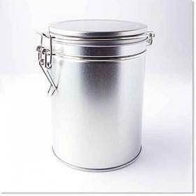 Silberdose 250g mit Aromaverschluss